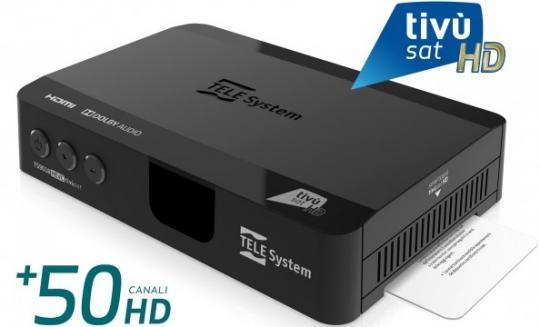 Telesystem TS 9018 TS9018 HD + Tivusat Karte- Original Tivusat Zertifikat