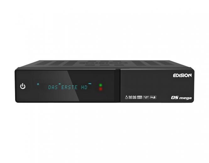 Edision OS mega 2x DVB-S2 1x DVB-S2/T2/C Combo-Receiver schwarz