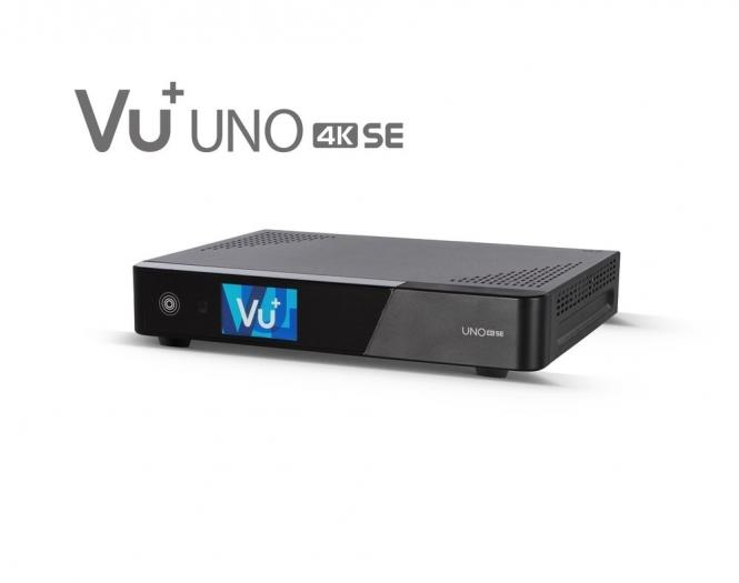 VU+® Uno 4K SE 1xDVB-T2 Twin Tuner PVR ready Linux Receiver UHD 2160p